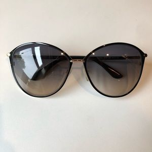 Tom Ford Penelope 59mm Black & Gold Sunglasses
